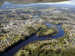 Hønefoss - Flyfoto